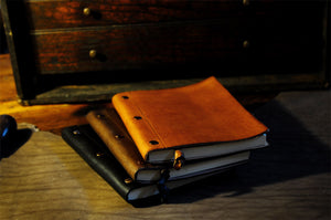 Leather Journals with replacement paper - 3 Screw Journals by  Borlino