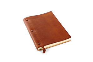 Italian Handmade leather journal with replaceable paper from Borlino.