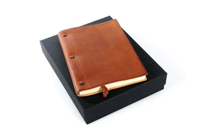 Personalized Tan Brown Bound Travel Journal Diary
