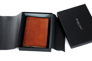 Soft Leather Covered Notebook with Present Wrapping