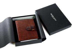 Medium Vachetta Strap Padfolio - Walnut