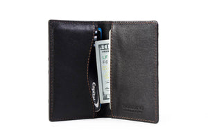 Ostrich Business Card / Credit Card Case - Walnut Brown