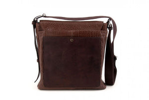 The Fano Buffalo Leather Courier Bag - Walnut Brown