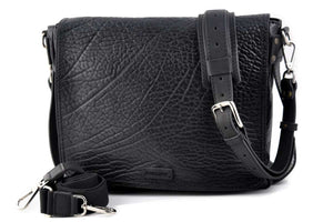 Buffalo Leather Messenger Bag - Onyx Black