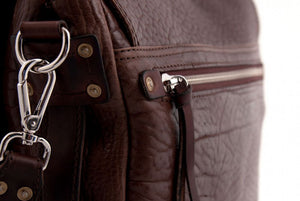 The Treviglio Buffalo Leather Messenger Bag - Walnut Brown