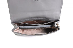 Handmade Italian Leather Clutch - Roma - Pompeii Grey
