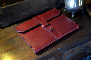 Leather Padfolio Handmade in Italy - Wine Burgundy Leather Journals and Padfolios by Borlino