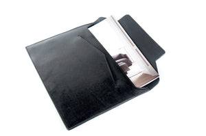 Leather Envelope Document Case - Onyx Black