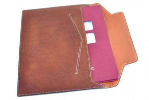 Leather Envelope Document Case - Terra Tan