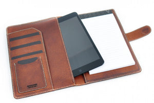 Soft Leather Covered Executive Portfolios w/Tablet Sleeve