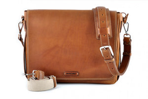 Leather Messenger Bag - Terra Tan
