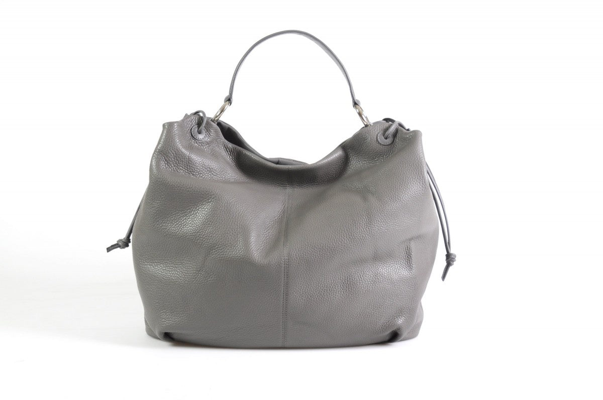 be893874dcec Italian Leather Shoulder Bag - Latina by Borlino - Pompeii Grey