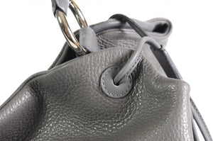 Handmade Italian Leather Shoulder Bag - Latina - Pompeii Grey
