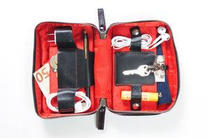 Black Leather Woman's Travel Case