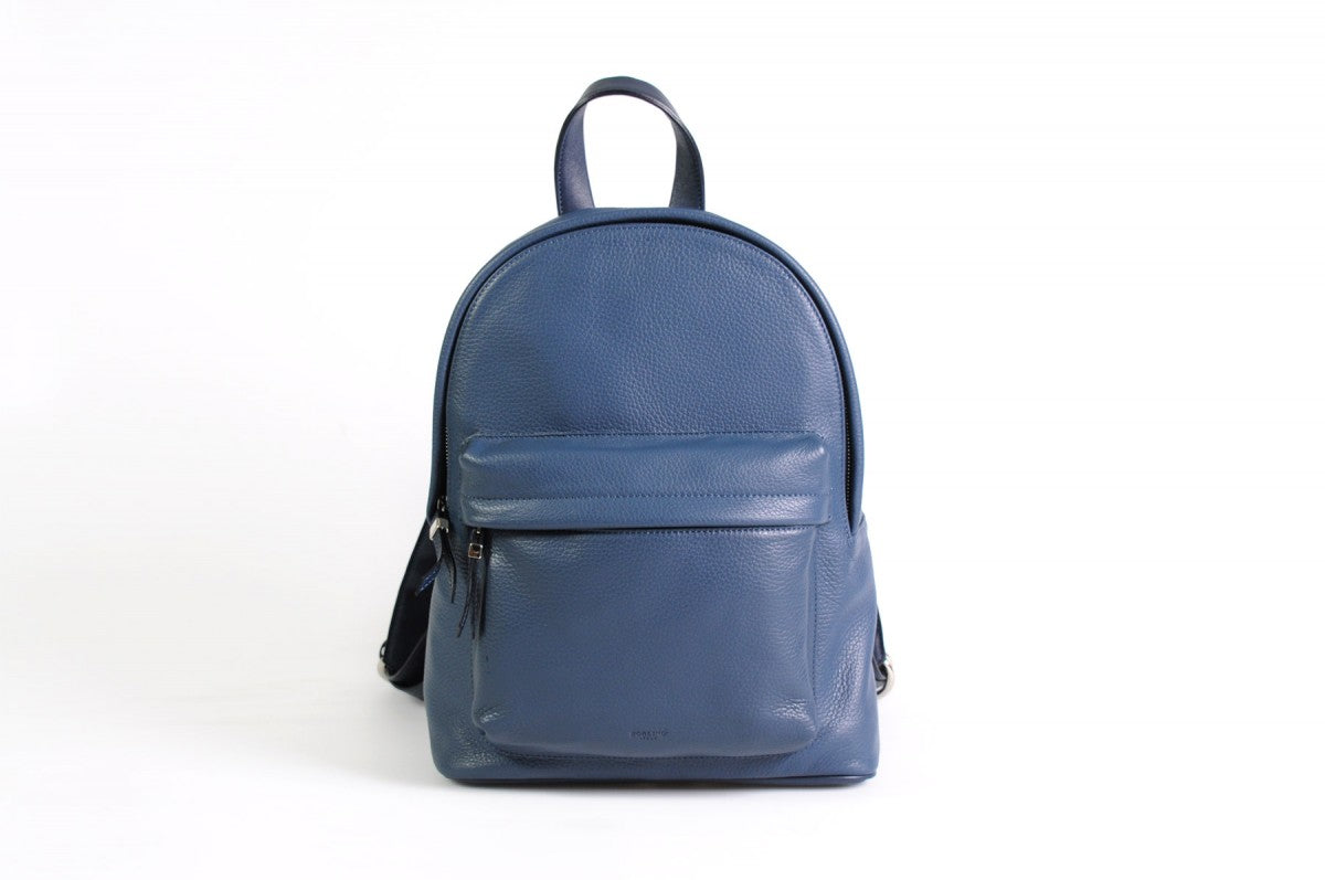 The Cortina Calf Leather Backpack - Capri Blue