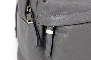 The Cortina Calf Leather Backpack - Pompeii Grey