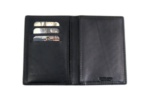Leather Passport Wallet - Contains multiple pockets for credit cards and cash.