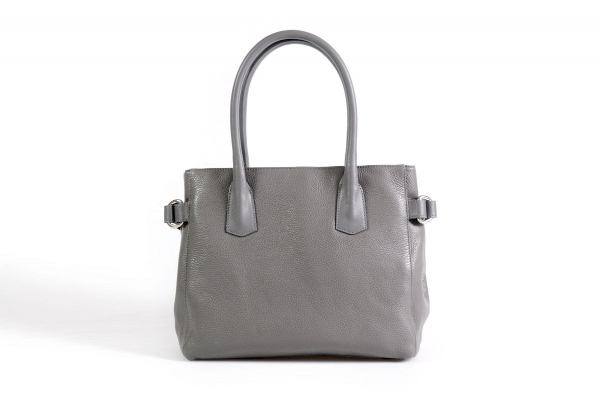 The Mantova Calf Leather Classic Handbag - Pompeii Grey