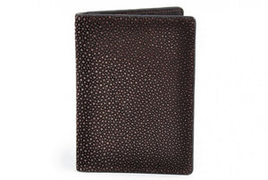 Leather Stingray Passport Case by Borlino Italy.