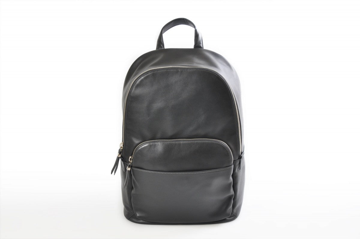Leather Backpack - Our lightweight hark Grey Calf Leather Belluno Backpack is our sleekest style contemporary backpack yet. Made from beautiful soft calf leathers that will become even softer and more beautiful over time.
