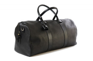 Leather Duffel - This lightweight hand-crafted leather duffel bag is constructed of the finest Italian soft calf leathers. It's perfect for weekend trips that securely fits in the plane overhead. Great for a short trip to the gym or country club as well. The spacious interior also has a secure zippered pocket.