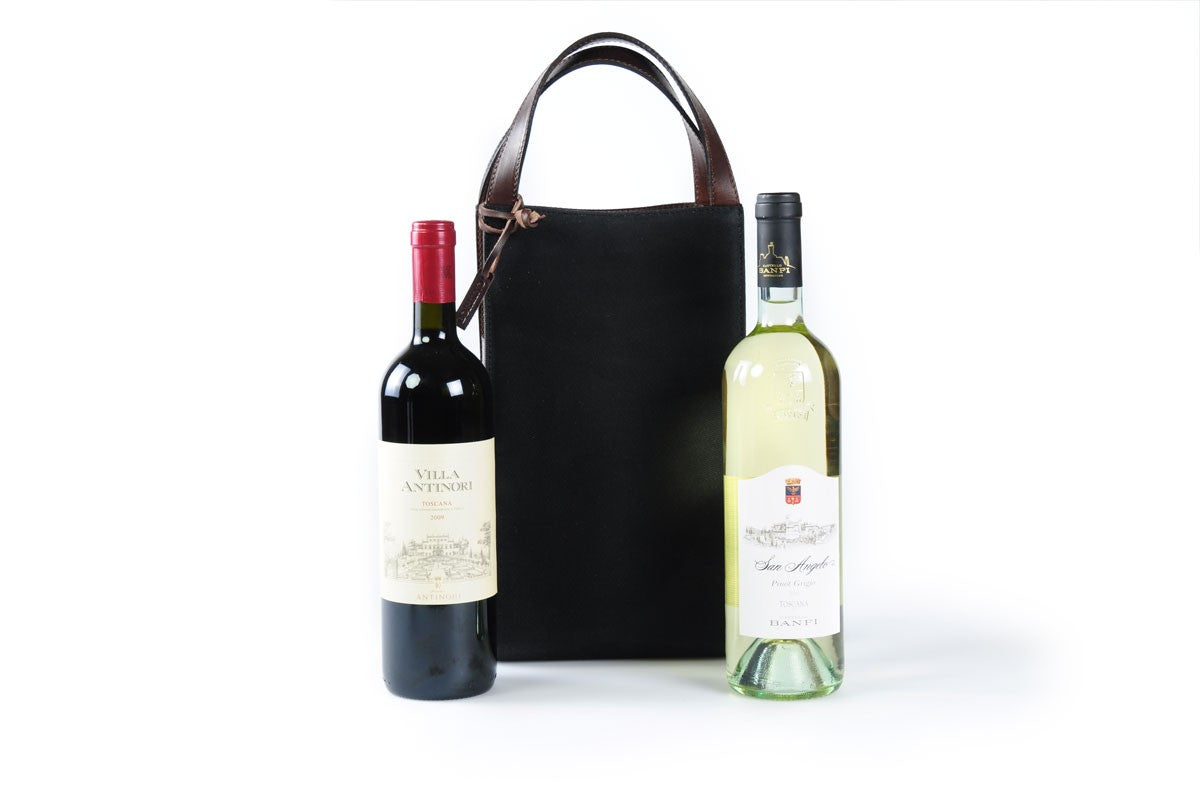 2-Bottle Leather Wine Carrier
