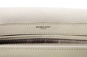 Handmade Italian Leather Clutch - Rimini - Luna White