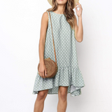 Print  Ruffle Ladies Dress