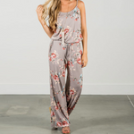 Load image into Gallery viewer, Super Comfy Floral Jumpsuit