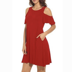 Summer Cold Shoulder Tunic Dress