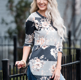Women's Blouse Sleeve Floral Print