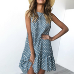 Load image into Gallery viewer, Print  Ruffle Ladies Dress
