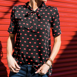 Load image into Gallery viewer, Red Lips Short Sleeve