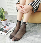 Fashion Women Ruffle Fishnet Ankle High Socks