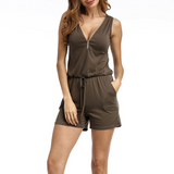 Jumpsuit Beach Shorts Pants Sleeveless
