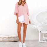 Loose Long Sleeve Shirts Chiffon