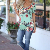 Casual Women Summer T-shirts V-neck