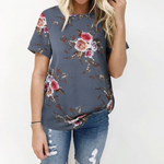 Load image into Gallery viewer, T-Shirt Chiffon Short Sleeve Tops