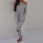 Load image into Gallery viewer, Jumpsuit Long Sleeve Slash-Neck Off Shoulder