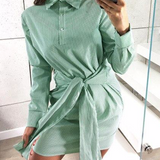 Summer Long Sleeves Straight Dress