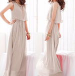 Load image into Gallery viewer, Pleated Maxi Dress Sleeveless