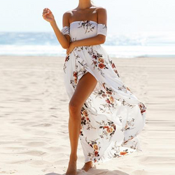 Summer Casual Print Dress Maxi Long