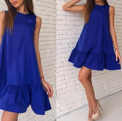 Ruffled A-line Dresses Sleeveless