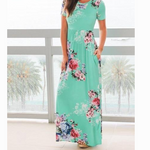 Load image into Gallery viewer, Short Sleeve Maxi Dress