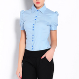 Short Sleeves Color Blouse