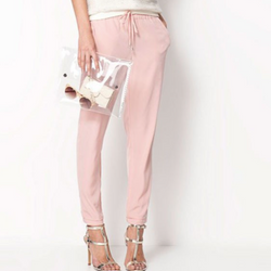 Strappy Pants Elastic Waist