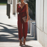 Load image into Gallery viewer, V-neck Sling Long Jumpsuit