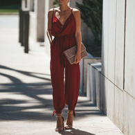V-neck Sling Long Jumpsuit