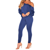 Neck Off Shoulder Batwing Sleeve Tops and Long Pants