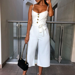 Casual Wide Leg Pants Jumpsuit